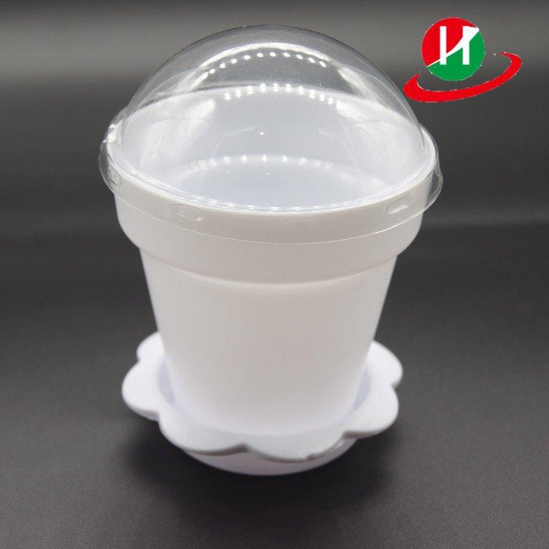 HoChong-High Quality White Color Flower Pot Shape Diy Baking Plastic Dessert Jelly-1