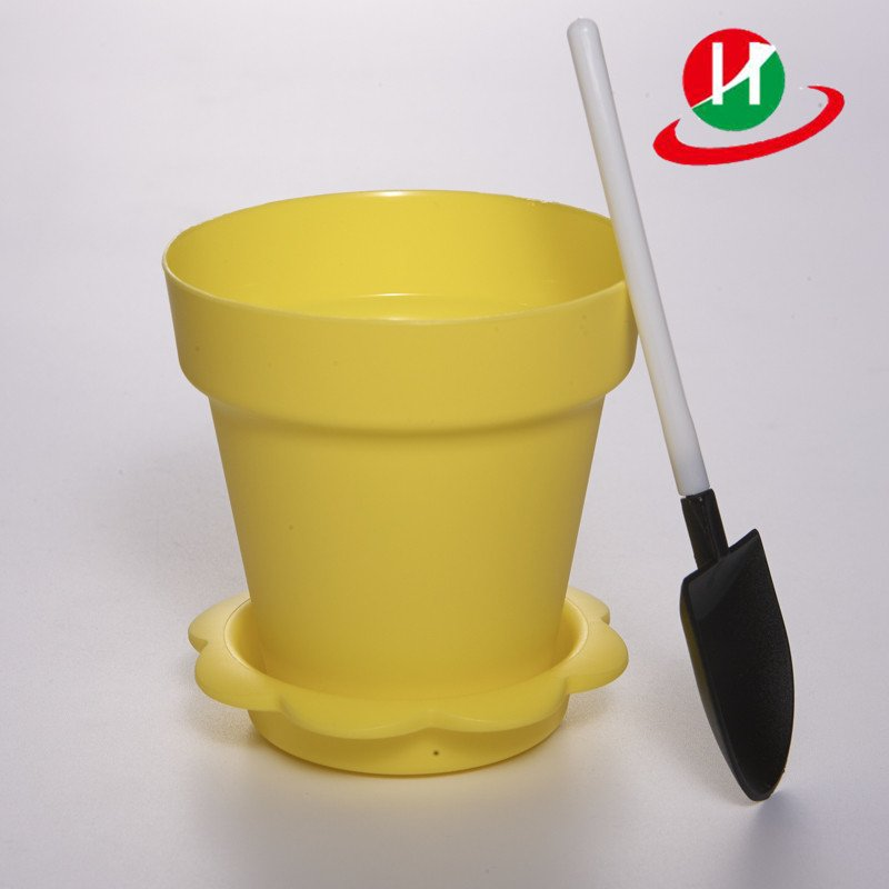 HoChong-Find Yellow Color Flower Pot Shape Diy Baking Plastic Dessert Jelly Cake