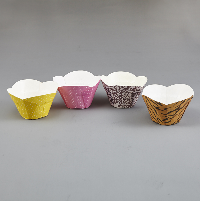 HoChong-Best Eco Friendly Disposable Pet Film Paper Cupcake Bowl Ripple Wall