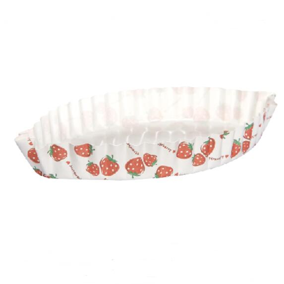 HoChong-Strawberry Flowers Distinctive Leaf Type Ripple Wall Bread Cake Cup Fit