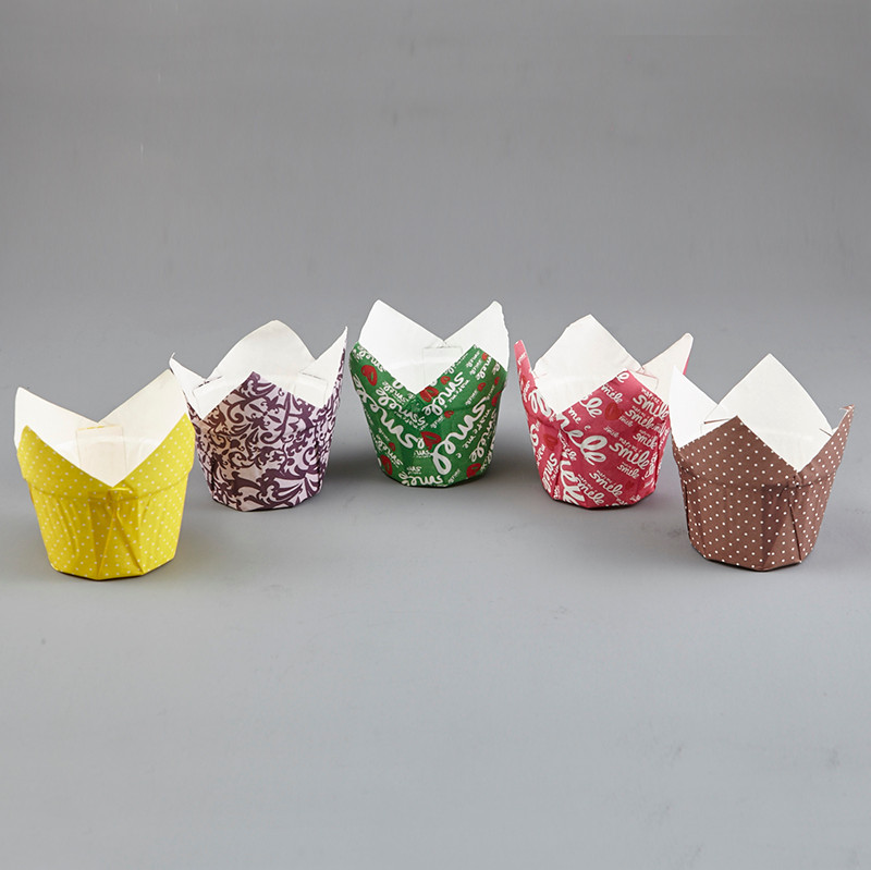 HoChong-Premium Tulip Pudding Muffin Wraps Cases Cups Easy Bake Wedding Party