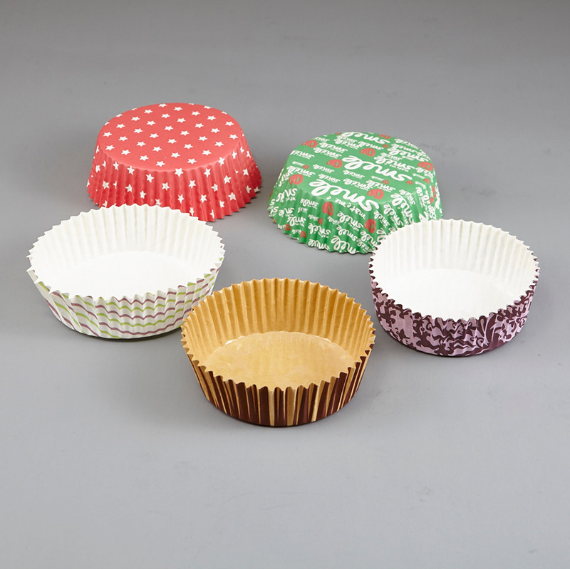 HoChong-Multi-size Eco Friendly Disposable Pet Film Paper Cupcake Bowl Ripple