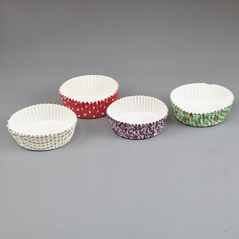 HoChong-Multi-size Eco Friendly Disposable Pet Film Paper Cupcake Bowl Ripple-1