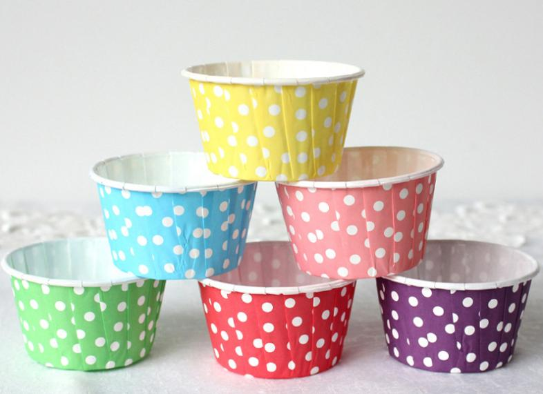 HoChong-4 Oz Food-grade Disposable Paper Souffle Cups Paper Baking Cup Cupcake Liners Muffin Cups-4
