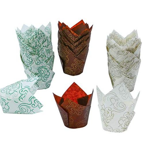 HoChong-Tulip Baking Paper Cups Cupcake Or Muffin Liners Wrappers, Tulip Baking