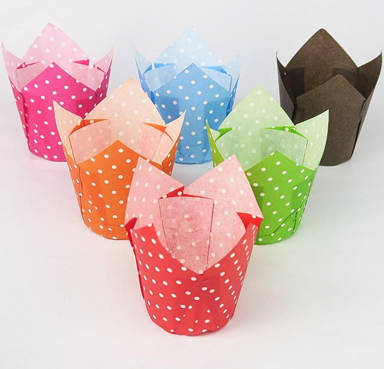 HoChong-Tulip Baking Paper Cups Cupcake Or Muffin Liners Wrappers, Tulip Baking-2