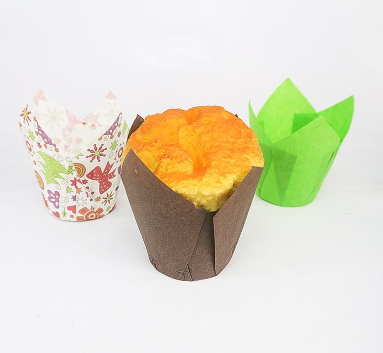 HoChong-Tulip Baking Paper Cups Cupcake Or Muffin Liners Wrappers, Tulip Baking-3