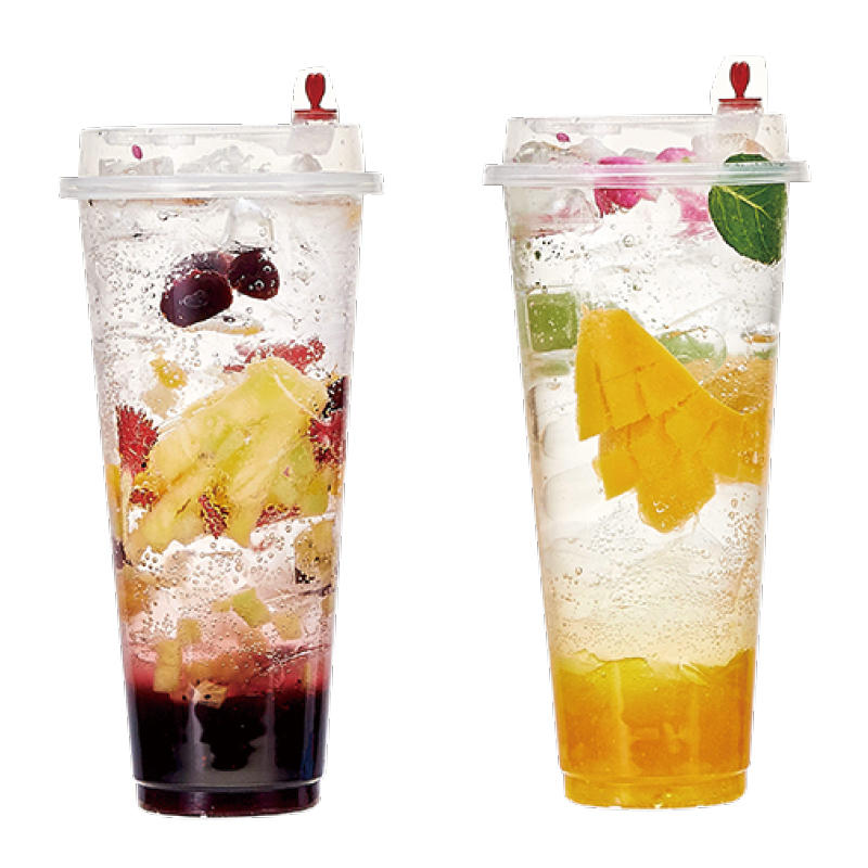 500ML 700M large plastic cups with lids and straws