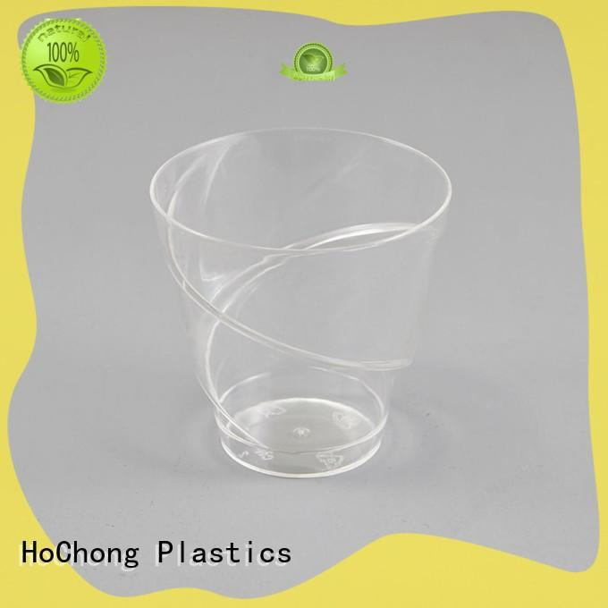 disposable 4 oz plastic dessert cups with octagonal style for family gathering
