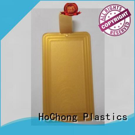 HoChong rectangle coffee serving tray with various shapes for indoor/outdoor