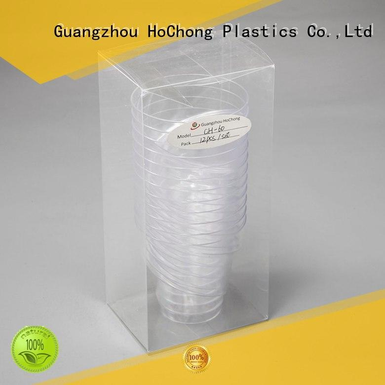 HoChong safety clear plastic cups beauty for holiday party