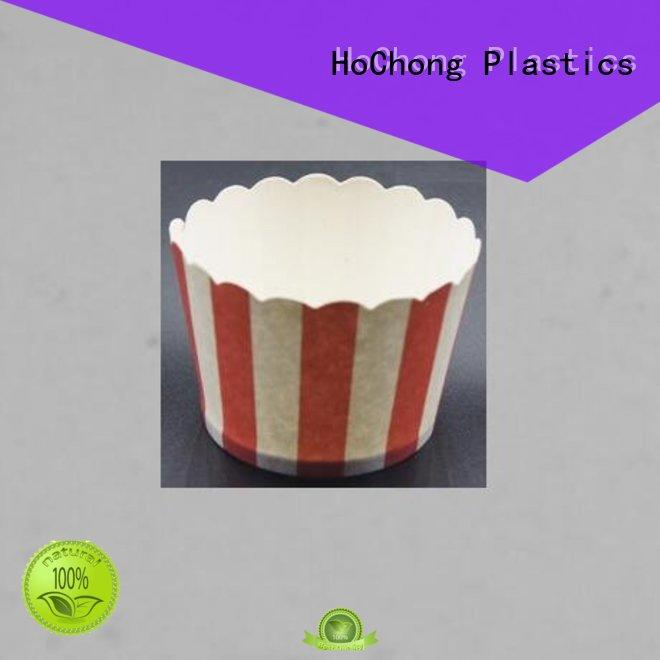 HoChong safety ice cream sundae paper cups square for wedding