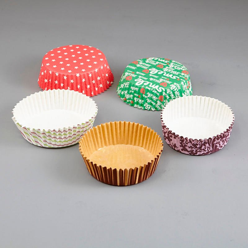 HoChong-Find Multi-size Eco Friendly Disposable Pet Film Paper Cupcake Bowl Ripple