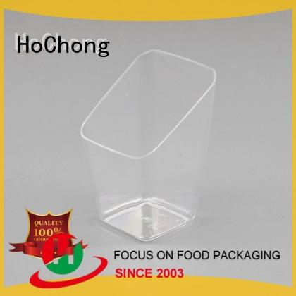 HoChong chocolate plastic dessert cups with high quality for carnival, birthday