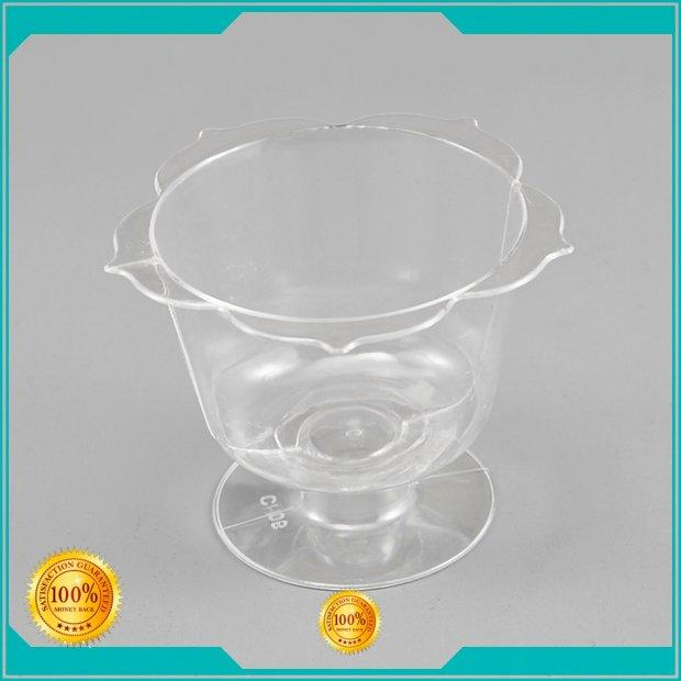 OEM plastic cups for wedding cupbowls lid shape plastic wine cups