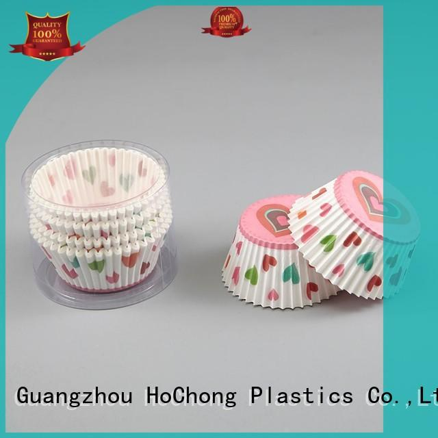 HoChong anti-oil paper snack cups with elegant cupcake liners for cakes