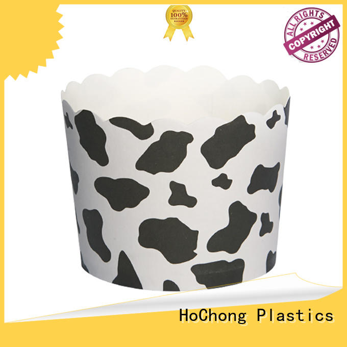 HoChong disposable disposable paper ice cream cups with high quality for holiday party