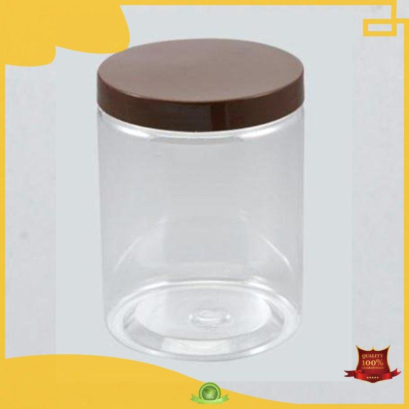 trendy crystal rectangle HoChong Brand plastic jars with lids manufacture