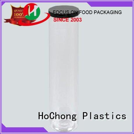 HoChong black cheap plastic food containers with clear lid for cookies