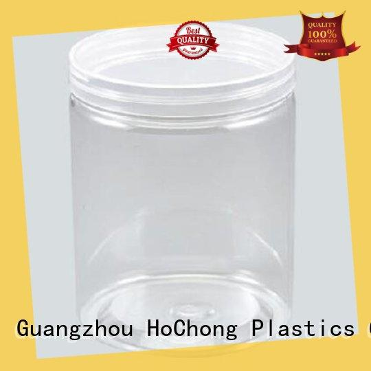 HoChong square clear plastic storage jars with clear lid for candy