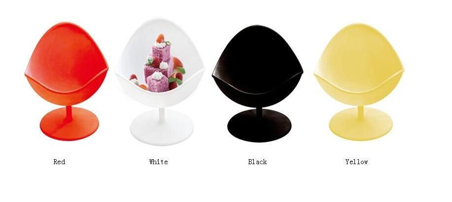 HoChong-77ml Unique Chair Design Ice Cream Cup Mousse Pudding Plastic Cup Four