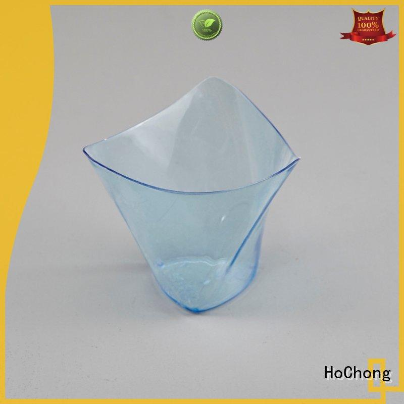 HoChong available small clear plastic dessert cups with high quality for family gathering
