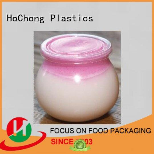 disposable plastic dessert cups with lids fruit with octagonal style for wedding