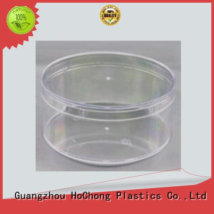 PS Plastic Jars Round transparent Pot  Food Containers with Clear Lid
