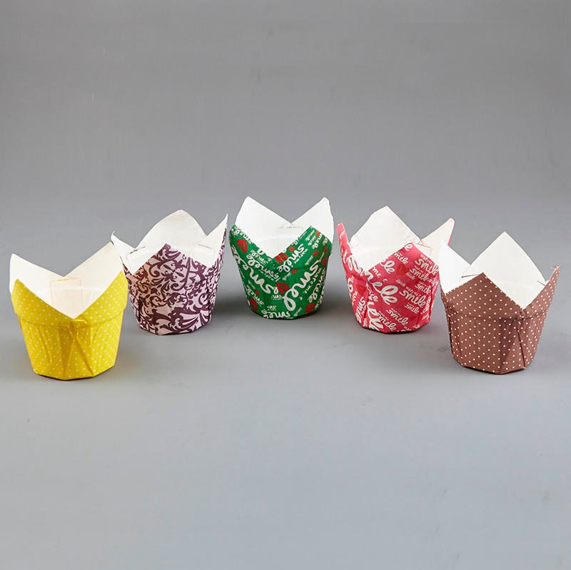 HoChong-Premium Tulip Pudding Muffin Wraps Cases Cups Easy Bake Wedding Party |