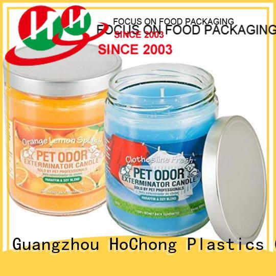 HoChong cup clear plastic storage jars with clear lid for cookies