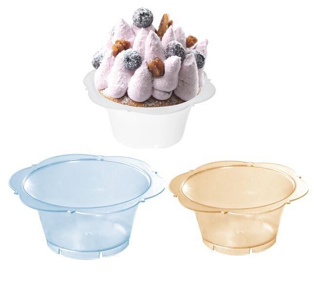 HoChong-Find Plastic Clear Ice Cream Dessert Bowls Print Logo Design 105ml Plastic