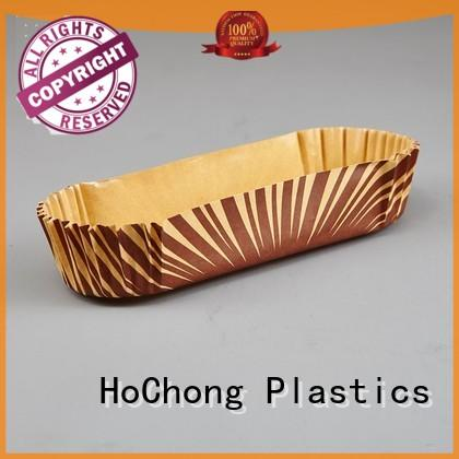 leaf plastic cupcake wrappers with high quality for holiday party HoChong