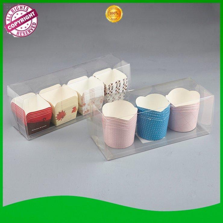 Custom paper plastic cups pvc bakery case