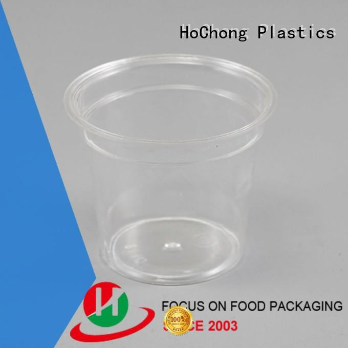 plastic dessert cups with lids reusable for outdoor party HoChong